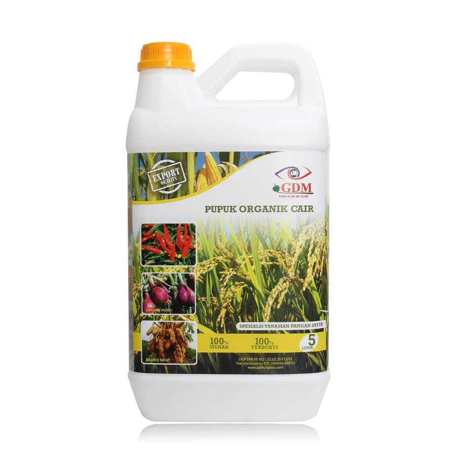 pupuk organik cair gdm spesialis tanaman pangan 5ltr