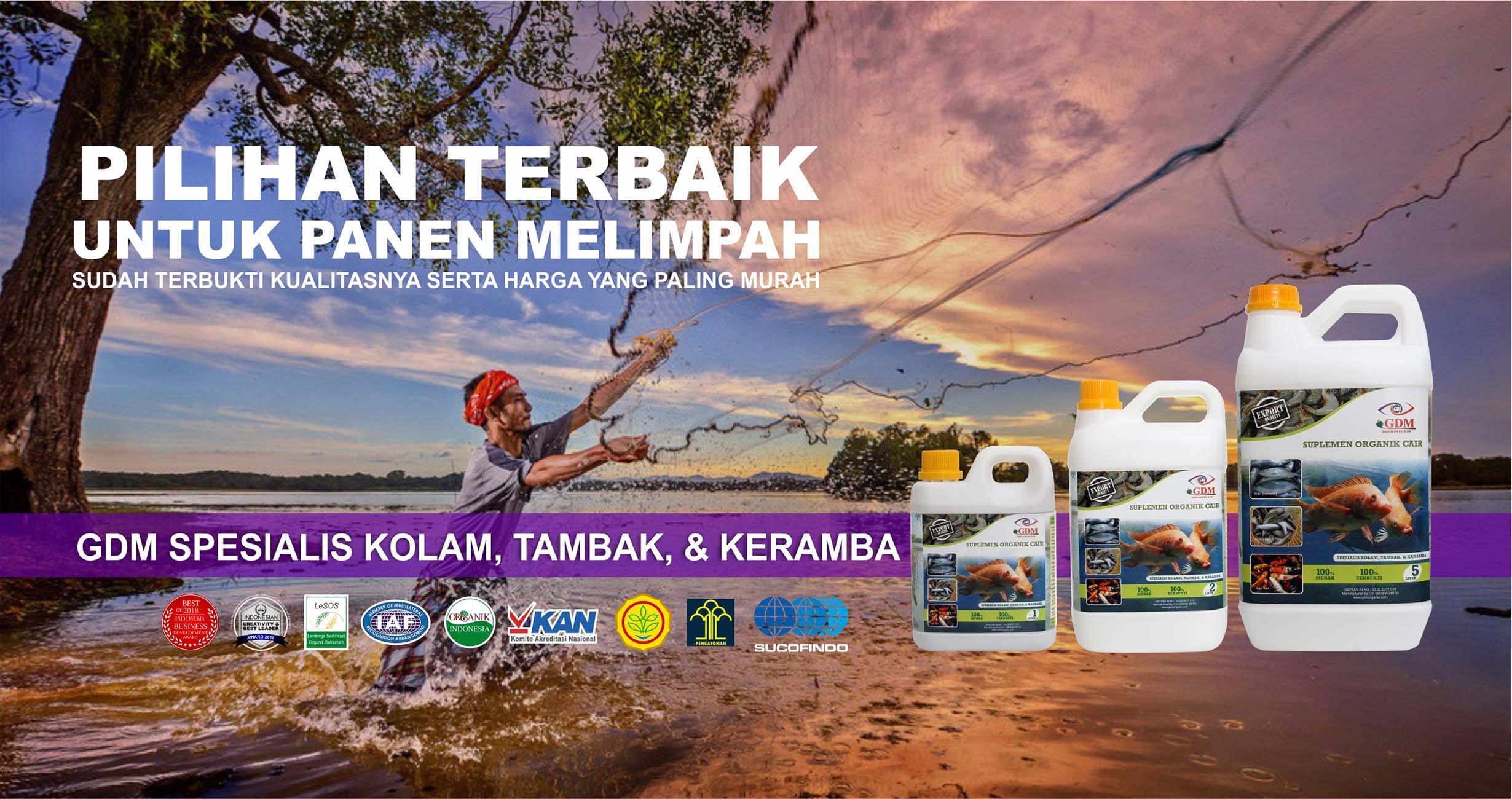 cover suplemen organik cair spesialis kolam, ikan, tambak & Keramba