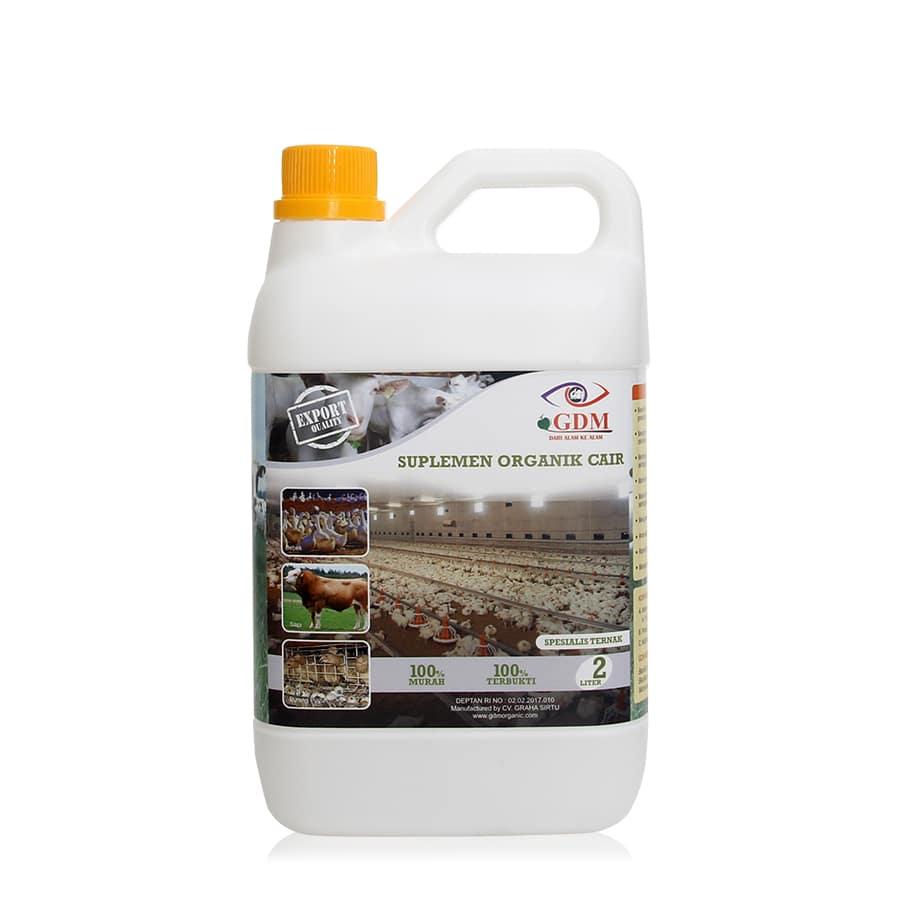 produk suplemen organik cair gdm spesialis ternak 2ltr